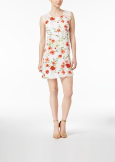 kensie Wild Poppies Floral-Print Shift Dress