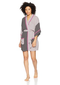 kensie Women's  3/4 Sleeve Robe L/XL