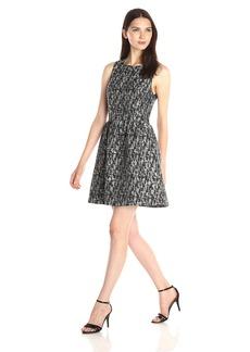 kensie Women's Abstract Brocade Dress  Medium