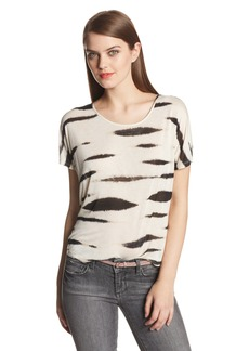 kensie Women's Animal Stripe Tee Shirt