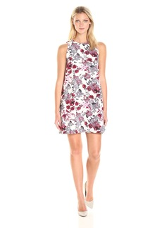Kensie Women's Antique Floral Print Shift Dress  L