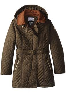 kensie Women's Asymmetrical Zip Quilted Jacket
