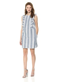 kensie Women's Awning Stripe Dress  XL