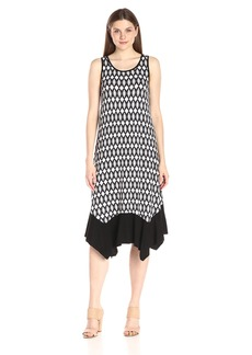 Kensie Women's Aztec Diamonds Print Midi Dress