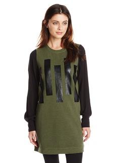 Kensie Women's Bar Print Sweatshirt