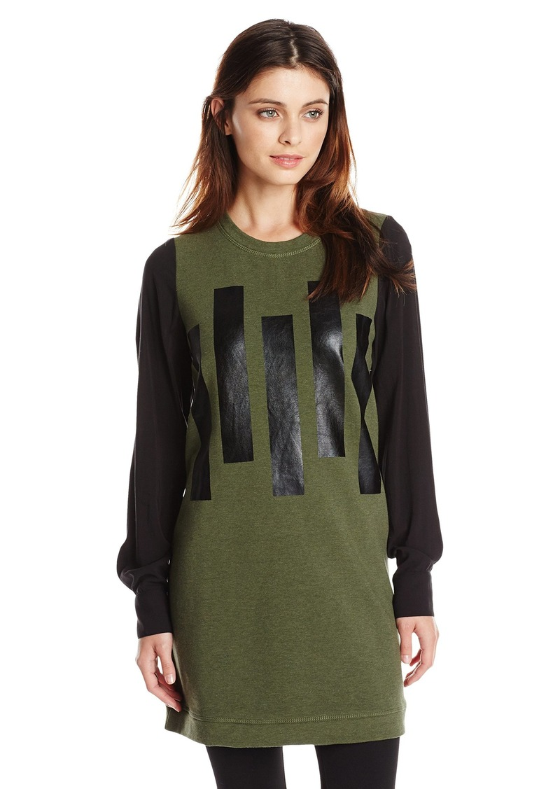 kensie Women's Bar-Print Sweatshirt
