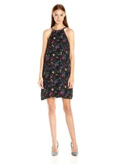 Kensie Women's Bird Floral Dress  L