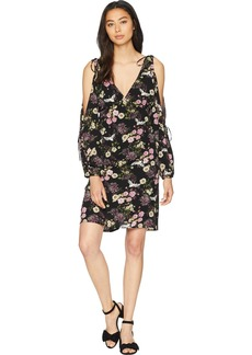 kensie Women's Black Floral Cranes Dress Combo L