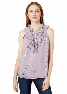kensie Women's Blooms Top  L
