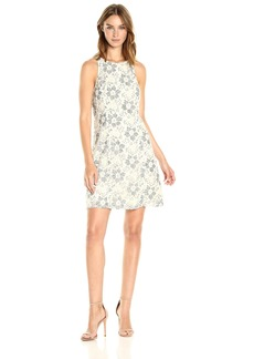 kensie Women's Blossom Lace Dress  L