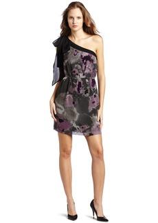 kensie Women's Blurry Ink Blot Dress