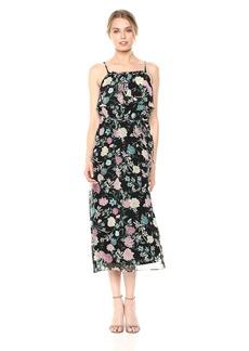 kensie Women's Botanical Floral Print Maxi Dress  XS