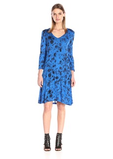 Kensie Women's Bouquet Clusters Print Dress