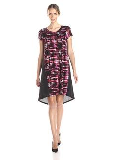kensie Women's Broken Stripes Dress