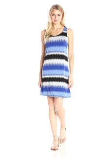 kensie Women's Burst Stripes Sleeveless Dress  S