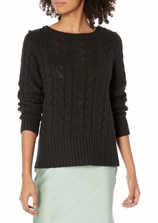 kensie Women's Button Shoulder Sweater  Extra Small