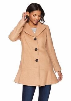 kensie Women's Casual Thigh Length Button Closure Wool Coat
