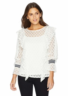 kensie Women's Chantilly Lace Top  S