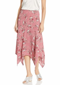 kensie Women's Charmed Bouquets Midi Skirt  Extra Small