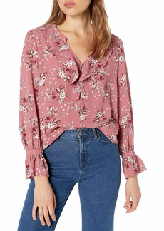 kensie Women's Charmed Bouquets Top  Extra Small