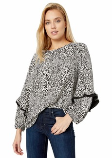 kensie Women's Cheetah Print Top