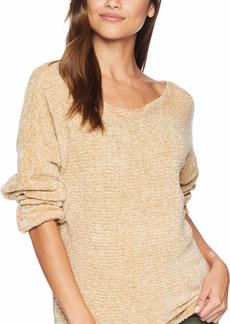 kensie Women's Chenille Ballerina Neck Sweater  XL