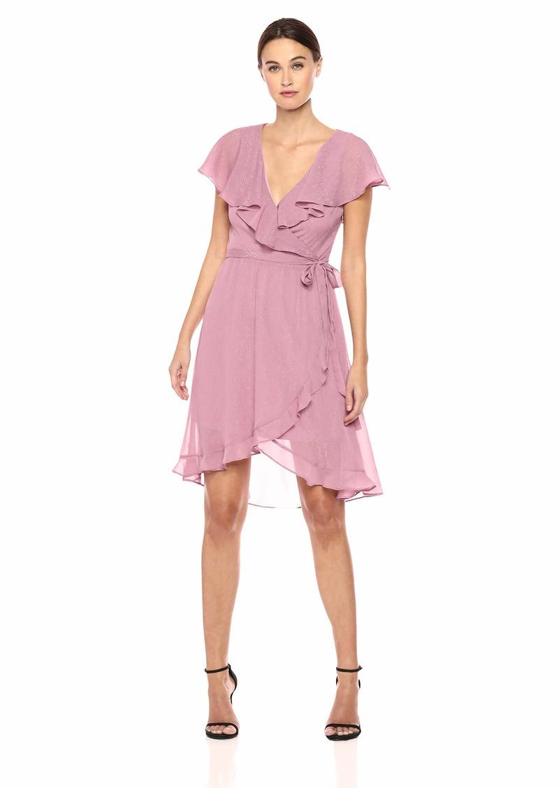 kensie Women's Chiffon WRAP Dress