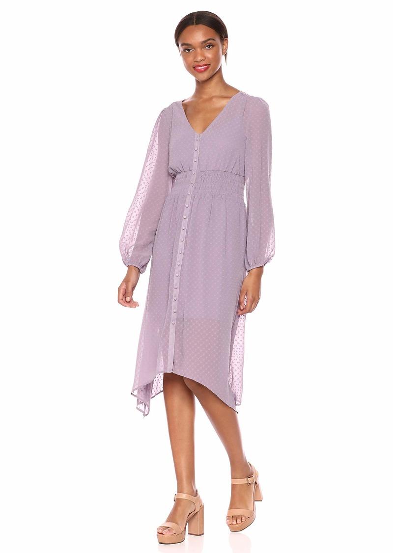 kensie Women's Circle Swiss Dot Dress  XL