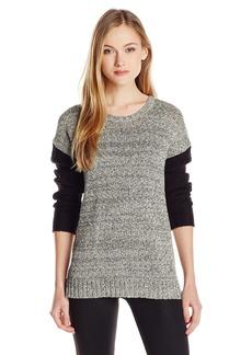 kensie Women's Color-Block Long-Sleeve Knit Sweater