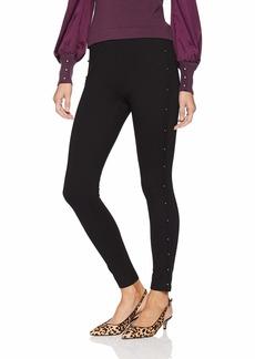 kensie Women's Compression Ponte Pant Pearl Side Detail  XL