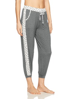 kensie Women's Contrast Cropped Jogger Pant  S