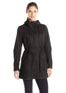 Kensie Women's Cotton Anorak with Grow Grain Trims