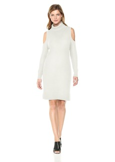 kensie Women's Cotton Blend Cold Shoulder Dress  S