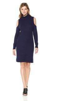 kensie Women's Cotton Blend Cold Shoulder Dress  XS