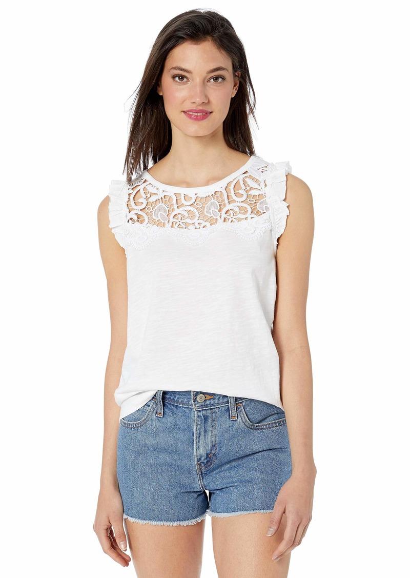 kensie Women's Cotton Slub Top  XL