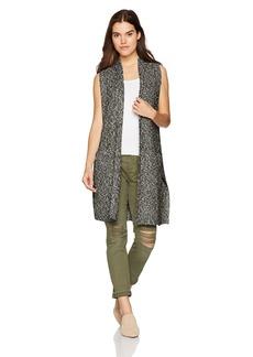 kensie Women's Cotton Tweed Vest  L