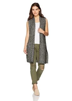 kensie Women's Cotton Tweed Vest  L