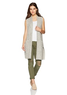 kensie Women's Cotton Tweed Vest  XL
