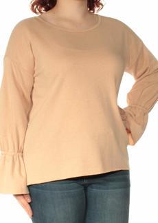 kensie Women's Cozy Fleece Bell Sleeve Sweatshirt  M