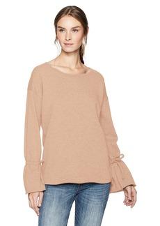 Kensie Women's Cozy Fleece Bell Sleeve Sweatshirt  XS