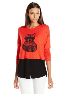 Kensie Women's Cozy Raccoon Sweatshirt