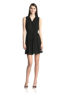 kensie Women's Crepe Chiffon Dress