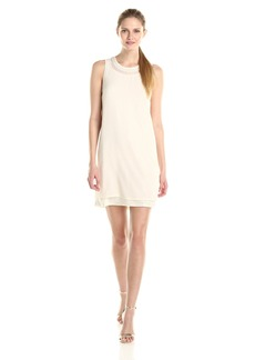 Kensie Women's Crepe Chiffon Dress with Sequins