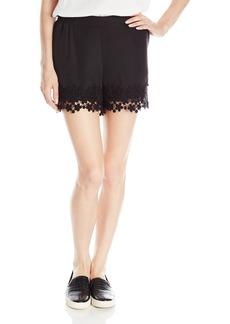 Kensie Women's Crepe Lace Short