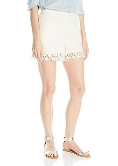 Kensie Women's Crepe Lace Short