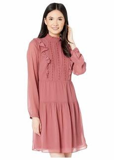 kensie Women's Crinkle Chiffon Dress