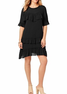 kensie Women's Crinkle Chiffon Dress