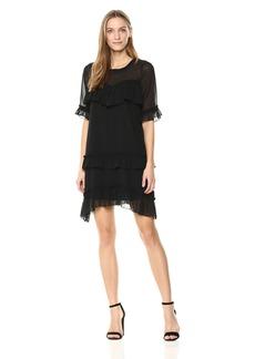 kensie Women's Crinkle Chiffon Dress  S