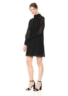kensie Women's Crinkle Swiss Dot Dress  XL