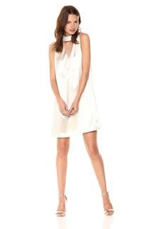 Kensie Women's Crinkled Satin Gigi Neckline Dress  XL
